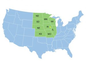 Our partner states. The Midwest is America's most agriculturally intensive region, which results in a significantly higher number of agricultural injuries and illnesses compared to other regions.
