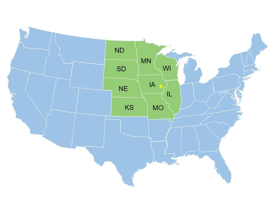 GPCAH area map