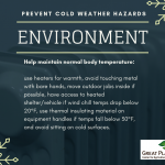Remember these important tips if you're working outside in the winter.